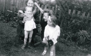 Joyce and Elizabeth with the girls 1948